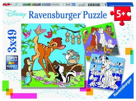 Ravensburger sestavljanka Disney prijatelji, 3x49 delov