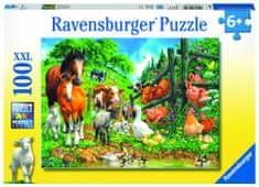 Ravensburger sestavljanka Druženje živali, 100 delov