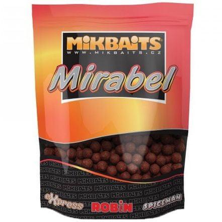 Mikbaits boilie Mirabel 300 g 12 mm půlnoční pomeranč
