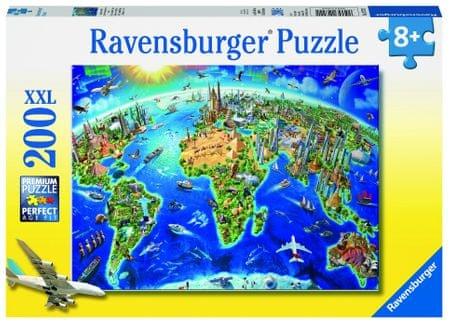 Ravensburger sestavljanka velika mapa sveta, 200 delov