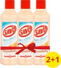 Savo Na podlahy dezinfekční prostředek bez chloru Laminátové povrchy 3x 1 l