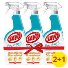 Savo Odmašťovač dezinfekční sprej bez chloru 3 x 700 ml