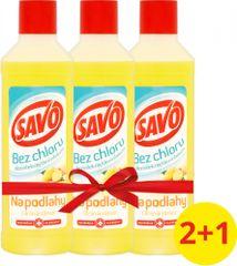 Savo Na podlahy dezinfekční prostředek bez chloru Citron a zázvor 3x 1 l