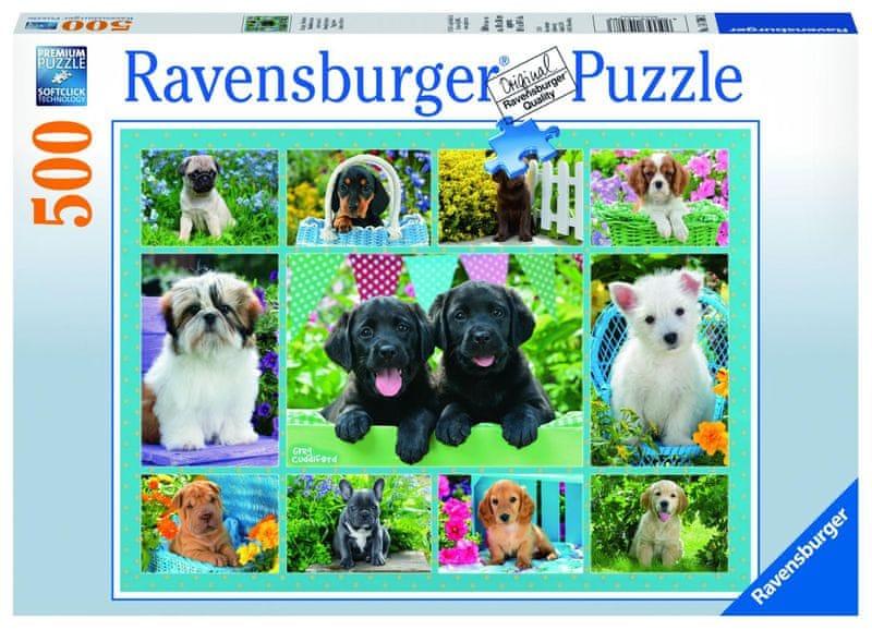 Ravensburger Roztomilá štěňata 500 dílků