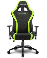 Sharkoon gamerski stol Shark SGS2, črn/zelen