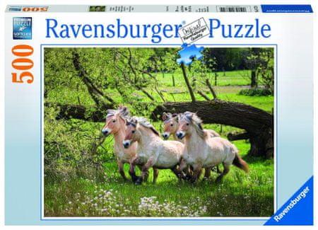 Ravensburger puzzle Konie Norweskie 500 elementów