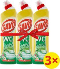 Savo Čisticí a dezinfekční přípravek na toalety Louka 3 x 750 ml
