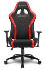Sharkoon gamerski stol Shark SGS2, črn/rdeč