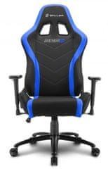 Sharkoon gamerski stol Shark SGS2, črn/moder