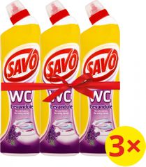 Savo Čistiaci a dezinfekčný prípravok na toalety Levanduľa 3 x 750 ml