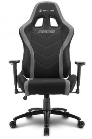 Sharkoon gamerski stol Shark SGS2, črn/siv