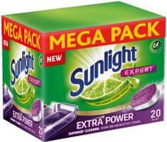 Sunlight All in 1 Extra Power Mega Pack Tablety do umývačky 120 ks