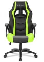 Sharkoon gamerski stol Shark SGS1, črn/zelen