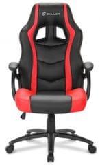 Sharkoon gamerski stol Shark SGS1, črn/rdeč