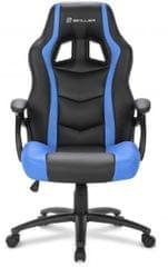 Sharkoon gamerski stol Shark SGS1, črn/moder