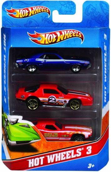 Hot Wheels dirkalniki, 3 kosi