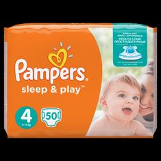 Pampers pleničke Sleep&Play Maxi (4), 7-18 kg, 50 kosov