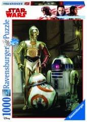 Ravensburger sestavljanka Disney Star Wars: C 3PO, R2 D2 & BB 8, 1000 kos