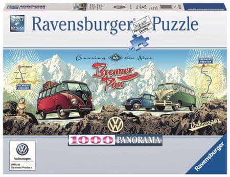 Ravensburger sestavljanka Alpsko popotovanje z VW, 1000 kos