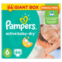 3 - Pampers Active Baby 6 Extra Large (15+kg) Giant Box - 66 ks