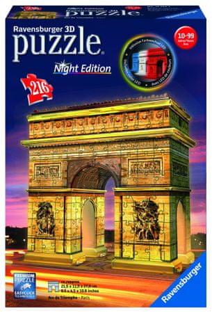 Ravensburger sestavljanka Arc de Triomphe (ponoči), 216 kos
