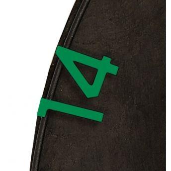 Unicorn Spare Numbers Set Green - Náhradní čísla pro sisalové terče