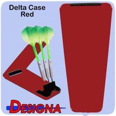 Designa Pouzdro na šipky Delta Solid Case - Red Black