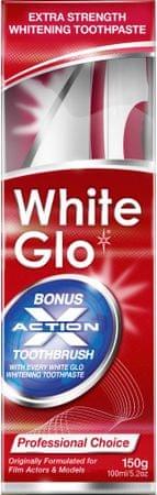 White Glo Zubní pasta Profesional 150 g + kartáček + mezizubní kartáček