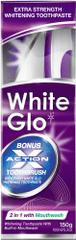 White Glo Zubní pasta 2 v 1 150 g + kartáček + mezizubní kartáček