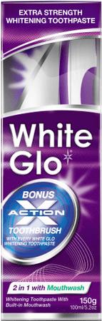 White Glo Zubná pasta 2 v 1 150 g + kefka + medzizubná kefka
