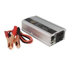 WHITENERGY Měnič napětí do auta 24/230 V, 400 W s USB