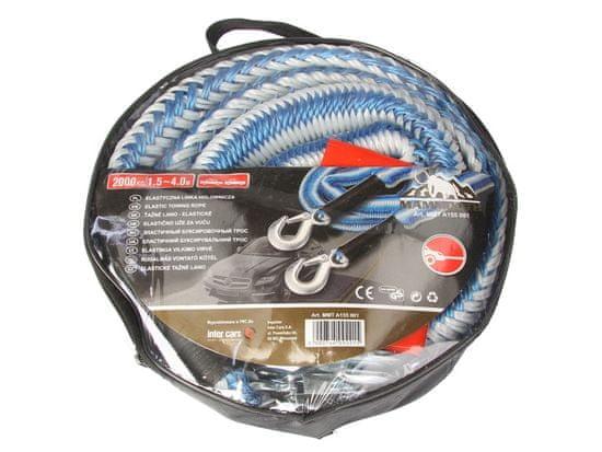 MAMMOOTH Tažné lano, elastické, 4 m, 2 000 kg, se 2 karabinami