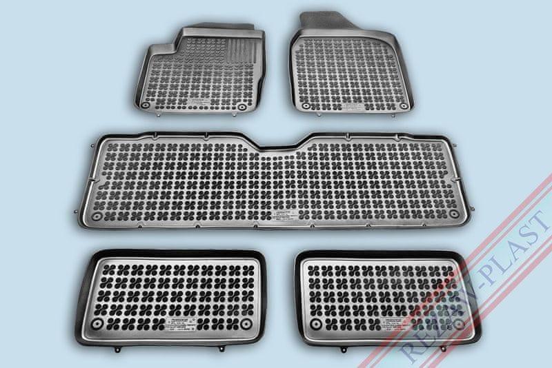 REZAW-PLAST SP. Z O. Gumové koberce, sada 5 ks (2x přední, 1x spojený prostřední, 2x zadní), Seat Alhambra, Ford Galaxy a VW Sharan