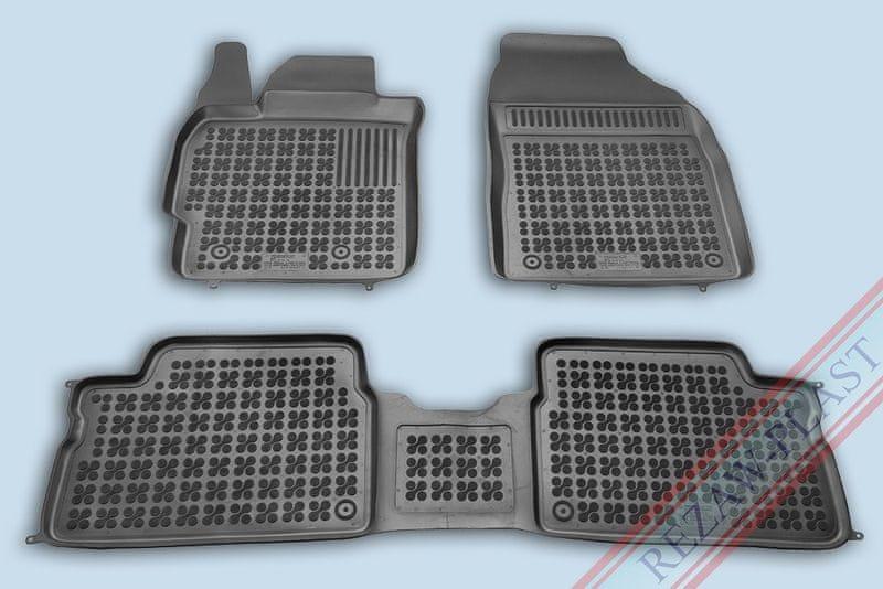 REZAW-PLAST Gumové koberce, sada 3 ks (2x přední, 1x spojený zadní), Toyota Corolla 2006-2013, Toyota Auris 2007-2012