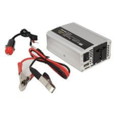 WHITENERGY Měnič napětí do auta 12/230 V, 350 W s USB