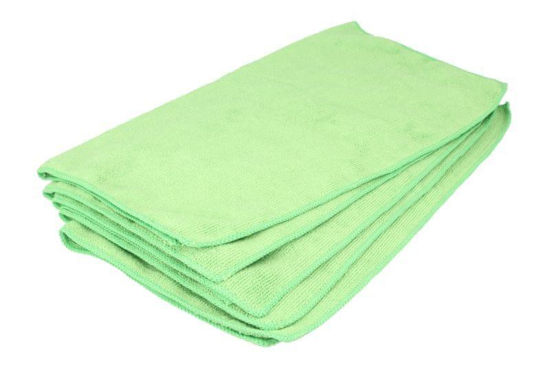 KAJA Utěrka z mikrovlákna, 40 x 40 cm, 320 g/m², zelená, 5 ks v balení
