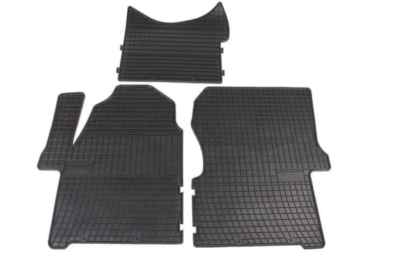 MAMMOOTH Koberce gumové, Mercedes-Benz Sprinter (904 a 906), VW Crafter 30-35 a 30-50 od r. 2006, sada 3 ks, černé