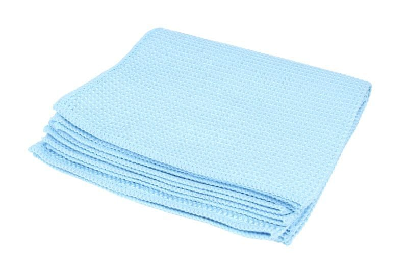 KAJA Utěrka z mikrovlákna, 40 x 40 cm, 320 g/m², modrá, 5 ks v balení