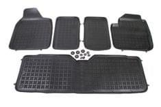 REZAW-PLAST Gumové koberce, sada 5 ks (2x přední, 1x spojený prostřední, 2x zadní), Seat Alhambra 95-10, Ford Galaxy 95-06 a VW Sharan 95-10