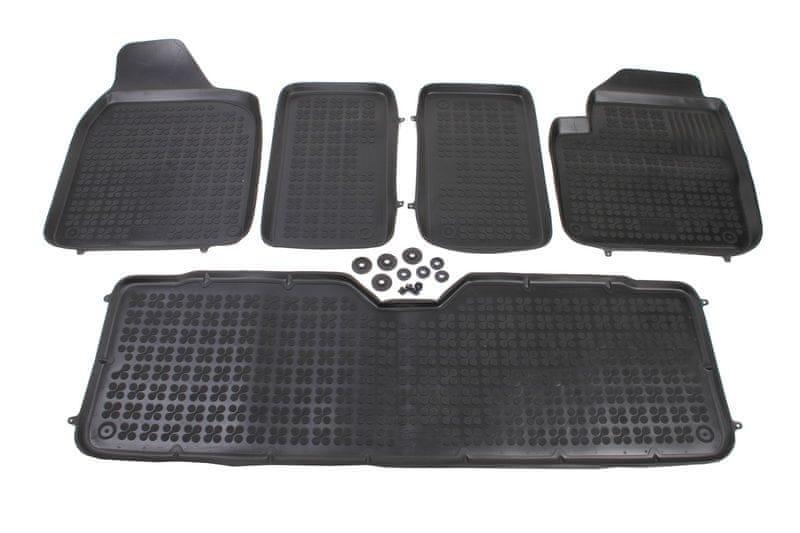 REZAW-PLAST Gumové koberce, sada 5 ks (2x přední, 1x spojený prostřední, 2x zadní), Seat Alhambra, Ford Galaxy a VW Sharan
