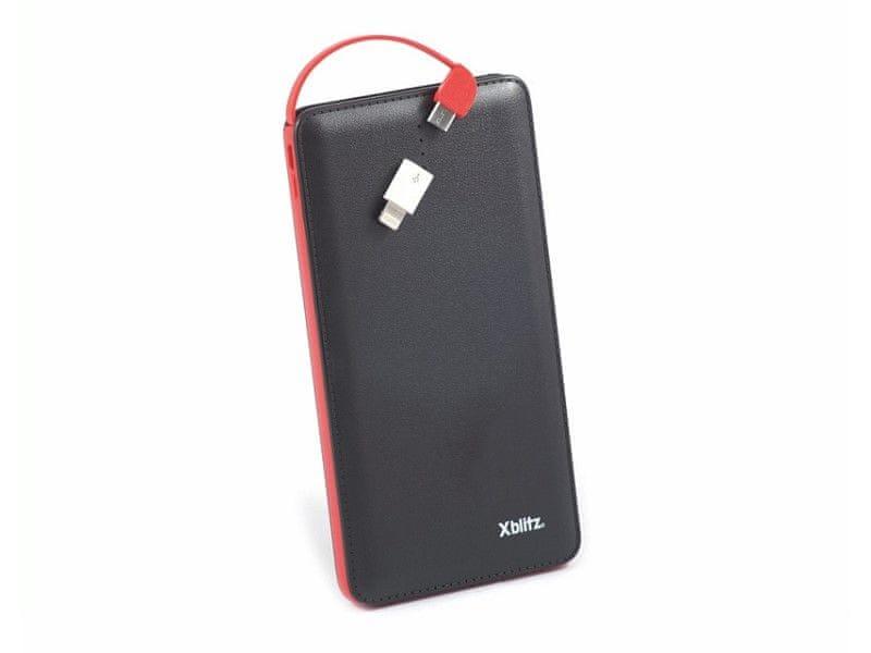 XBlitz Univerzální přenosná nabíječka Energy Power Bank, 2 USB porty, 10 000 mAh