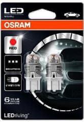 Osram Žárovka typ W21/5W, 12V, 21/5W, LEDriving červená