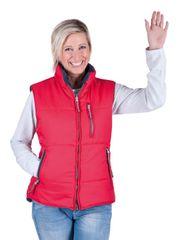 Cerva Dámska obojstranná zateplená vesta Roseville červená/navy S