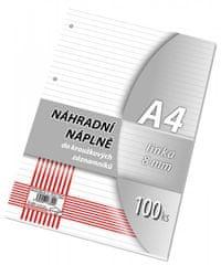 Náhradní vložka A4 100 listů, linka