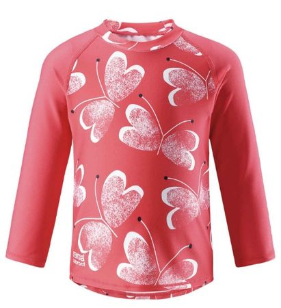 Reima otroška majica z dolgimi rokavi Borneo, Bright red, UV 50+, 98 rdeča