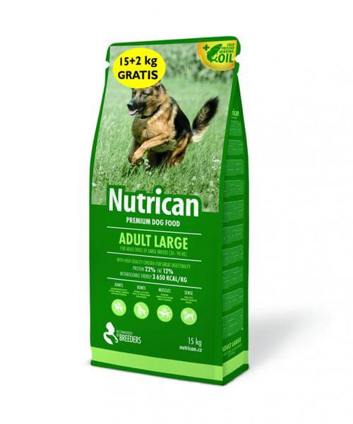 Nutrican Adult Large 15 kg + 2kg Zdarma