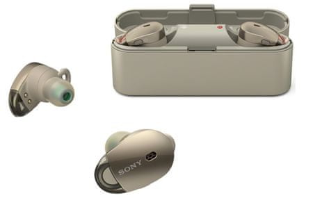 SONY słuchawki bezprzewodowe WF-1000X, złoty
