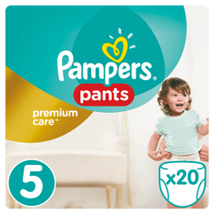 Pampers hlačne plenice Premium Pants 5, Carry Box, 20 kosov
