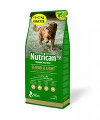 Nutrican hrana za pse Senior & Light 15 kg + 2 kg gratis