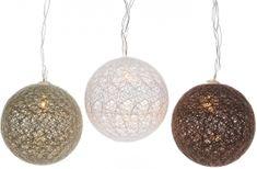 Kaemingk LED dekorační koule hnědé 180 cm